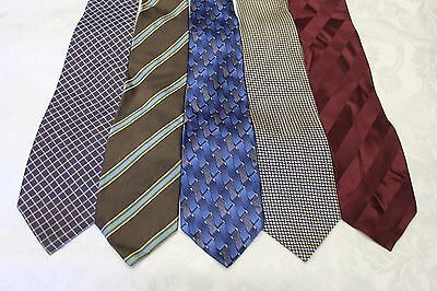 """Lot Of 5 Ties Different Name Width 4"""" & Classic Length 57""""-60"""""""