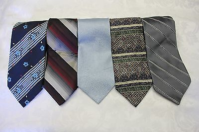 """Lot Of 5 Ties Different Name Traditional Width 4"""" & Classic Length 57""""-60"""""""