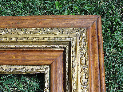 "Vintage Ornate Wood Gold Gilt Picture Frame 27 1/4"" x 31 1/4""  Fits 16"" x 20"""