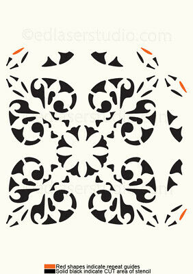 Moroccan Pattern Stencil Template Card making Paint Furniture Wall Crafts TL11