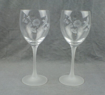 2 Goblets From the Avon Hummingbird Collection - 24% Full Lead Crystal
