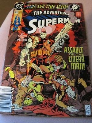 SUPERMAN The Adventures DC Comic Assault of the Linear Man! No 476 Mar. 1991 NM