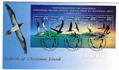 Christmas Island 1993 Seabirds MS FDC