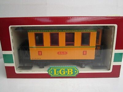 LGB G #3006 Passenger Coach Dodge City and Great Western Railroad #1