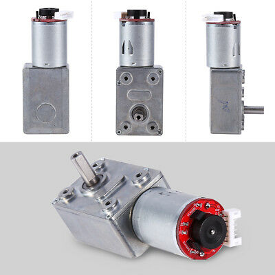 DC 12V High Torque Worm Reduction Gear Motor + Encoder 10/20/30/40/100RPM zg