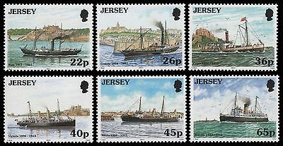 Jersey 2001 Maritime Links with France, Mail Packet Ships MNH