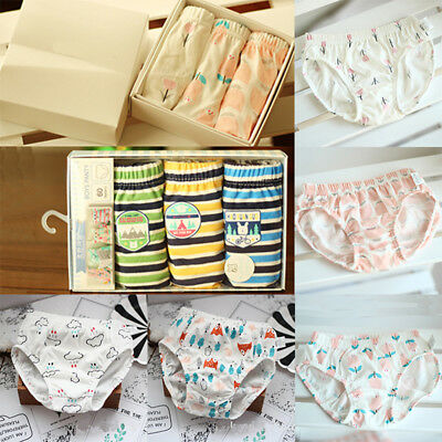 3Pcs Baby Kids Girls Boys Soft Cotton Briefs Underpants Comfort Briefs Underwear