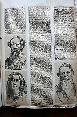 1897-1904 Scrapbook 114 Page Sides Full Newspaper Articles Sixty Years Of Empire