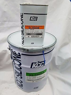 Transparent Silicone Elastomer SL3800 (KCC)  2 Component 10:1 (5 gal. + 1/2 Gal)