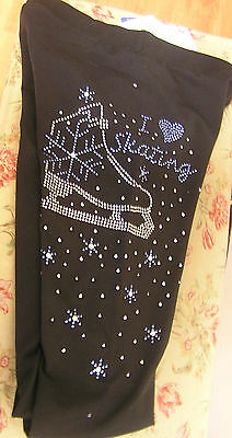 Chloe Noel P86 Crystal Vintage I Love Skating Pants Child XL/Adult X-SMall