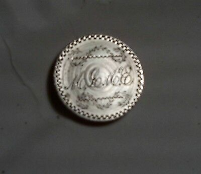 1857 Love Token Engraved  M L M Seated Liberty Us Dime / Pendant Ornate Silver