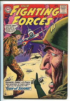 OUR FIGHTING FORCES #84-1964-DC-WWII-POOCH-GUNNER & SARGE-ZERO'S-MINEFIELD-vf+