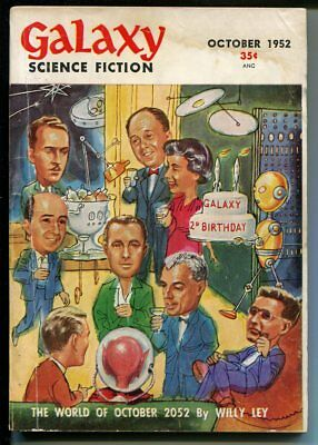 Galaxy Science Fiction 10/1952-sci-fi pulp-MacDonald-Sturgeon-VG