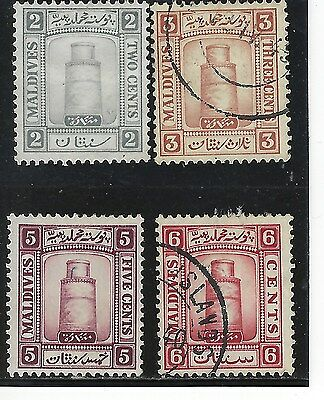 MALDIVE ISLANDS...# 11-14...1933...Mint & Used...SCV  $ 51.50