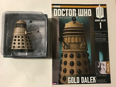 Doctor Who Figurine Collection #1 Gold Dalek BBC Eaglemoss Figure NEW