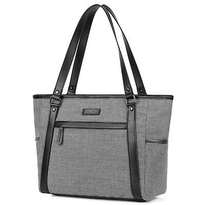 Laptop Tote, BRINCH Classic Nylon Zip Work Tote Bag Shopping Duffel Bag Carry Tr