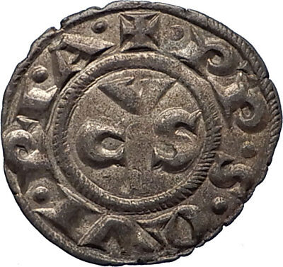 13-14th Century Medieval ITALY ANCONA City Republic Antique Silver Coin i66627