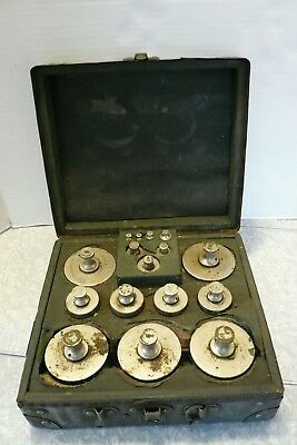 ATQ BOX COMPLETE SET CASE 16pc DAYTON HOBART CALIBRATION WEIGHTS SCALE ¼ oz-5lb
