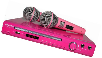 VS-600 Pink Vocal-Star Karaoke Machine With 2 Microphones & 150 Girls Party Song