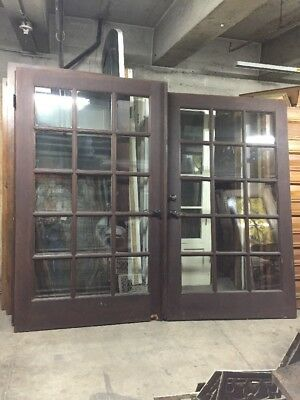 "French Doors Double Pane Tempered Glass 80 X46 1/2 "" Ea 93"" Open"