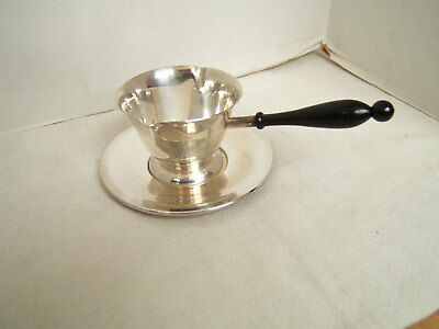 Antique Sterling Silver Double Spout Sauce Boat & Undertray Very Nice