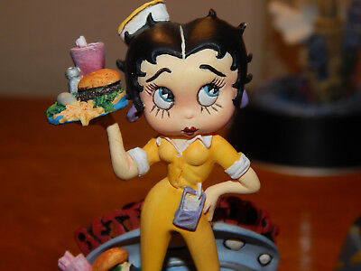"BETTY BOOP FIGURINE ""THE BOOP OOP A DOOP DINER"" 1996 Glass Dome! (others avail)"