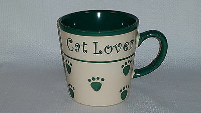 "PetRageous Designs ""Cat Lover"" Hand Crafted Stoneware Mug 16oz"