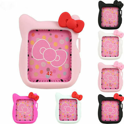Cute Cartoon Hello Kitty KT Cat Soft Silicone Protective Case for Apple Watch