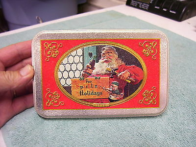 Coke Coca Cola Two Decks of Playing Cards Collector Tin Santa Christmas Sealed