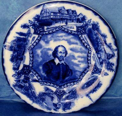 Wood & Sons William Shakespeare Royal Semi-Porcelain Flow Blue Cobalt Plate