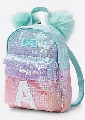 NWT Justice Girls Ombre Initial S mini Backpack Sequin Accessory Purse