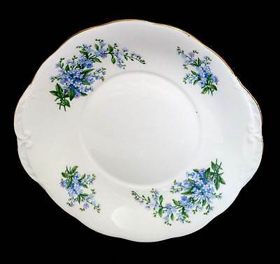 Vintage Queen Anne pretty two handled forget me not cake plate