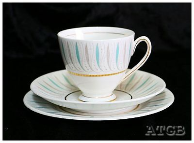 Vintage Queen Anne Caprice retro trio teacup saucer plate set
