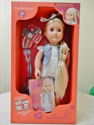 Our Generation Battat Doll Phoebe Extendable Hair + Outift 18 Ins Brand New Box