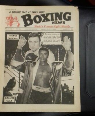 Boxing News Magazine , Cassius Clay V George Chuvalo , Great Cover 1966