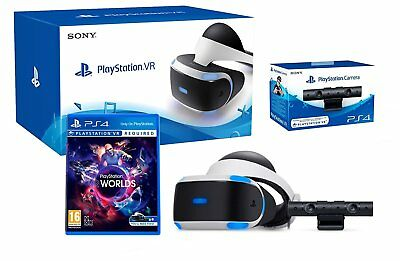 PS4-VR + VR-Spielset The Worlds + PS4-Kamera + VR-Brille