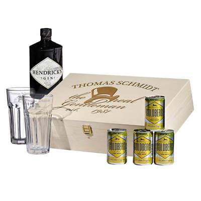 8-teiliges Set Regalo Gin-Tonic-Set Incl. Incisione Motivo The Reale Gentleman
