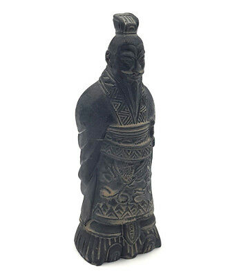 Chinese Terracotta Army Fired Clay Army General Warrior Sword Figurine Ornament