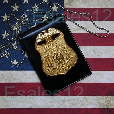 US Federal Officer Special Agent Badge Card ID Cards Holder FBI Collection
