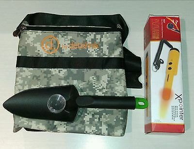 Deteknix Camo Xpointer Pinpointer + Camo Finds pouch & scoop