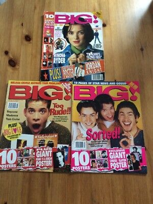 3 X BIG Magazines From 1990s With Posters Teenage Pop Music