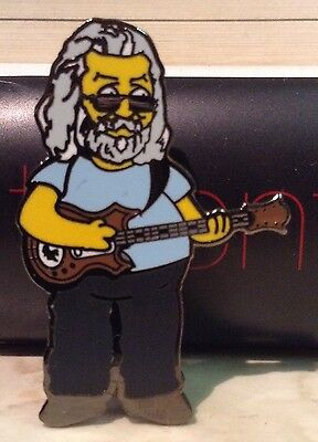 "Jerry Garcia Simpsons 1.5"" PIN Grateful Dead-Hard Enamel LIMITED Edition 2.0"