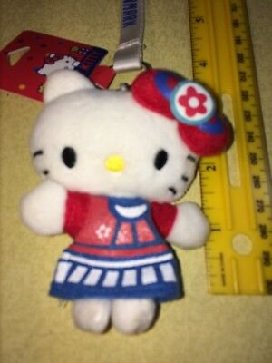 Hello Kitty Denmark Long Keychain Plush Nordic Souvenir Sanrio 2014 New