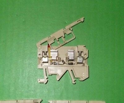 Terminal 4mm 6.3A Fused Lever DIN Rail ASK1 EN LD 1D Weidmuller 0225560000 1pc