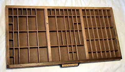 Printers California Job Case Tray,  Wooden, Shadow box, Vintage,  Shadow Box