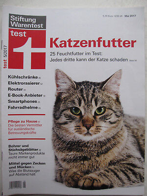 test stiftung warentest 5 mai 2017 katzenfutter k hlschrank fahrradhelm rasierer eur 1 00. Black Bedroom Furniture Sets. Home Design Ideas