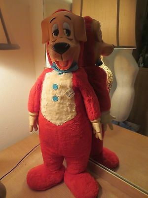 Vintage 1950's Knickerbocker Huckleberry Hound Toy With Rubber Face & Hands