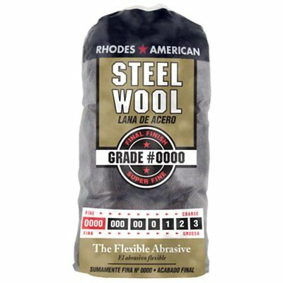Steel Wool Pad Super Fine Finish Smooth Shellac Lacquer Varnish 0000 12 Pack