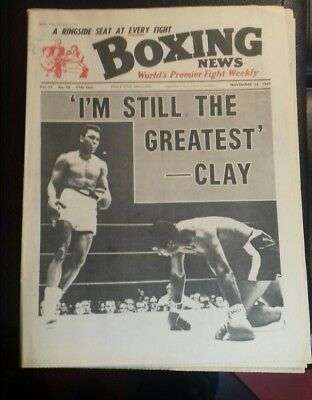 Boxing News Magazine , Cassius Clay V Floyd Patterson , Great Cover 1965