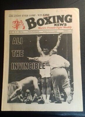 Boxing News Magazine , Cassius Clay V Zola Folly  Great Cover 1967